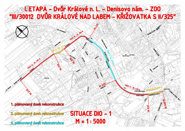 Benešovo nábřeží etapy rekonstrukce